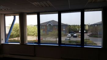 2. Privacy silver anti glare-heat film MWC Chartered accountants - Middlesbrough
