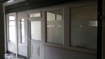 3. Etched effect privacy vinyl cut to clients specifications Gateshead high Street