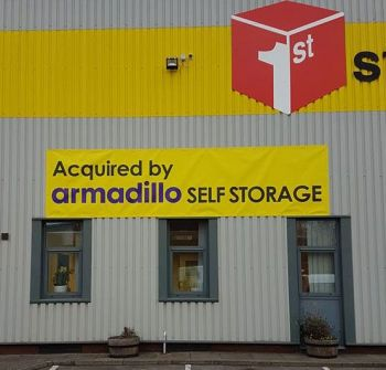 1. Banners installed Armadillo Self Storage Gateshead and Newcastle