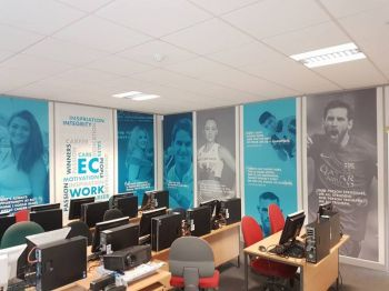 1. Digital printed wall vinyl EC Outsourcing - Boldon