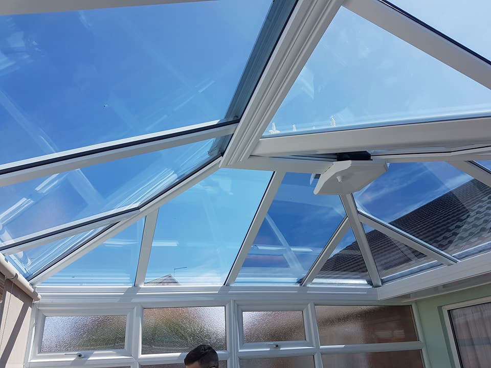 1. Anti Heat/Glare/Fade windowfilm installed to conservatory roof Morpeth - Northumberland 7.6.18