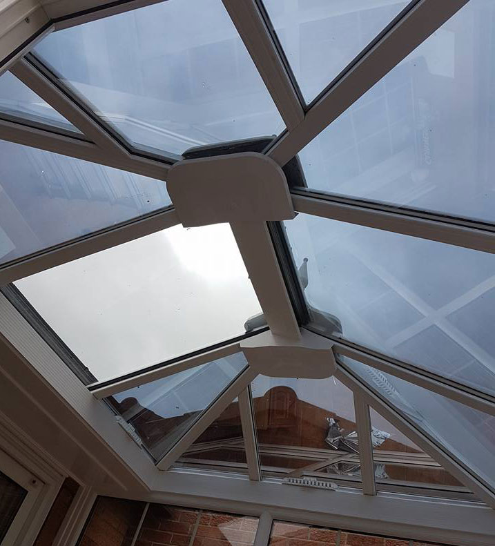 1. Heat reducing film to roof and anti Glare to bottom panes Domestic conservatory - Denton burn - Northumberland