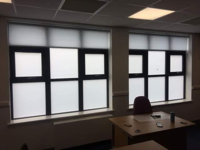 2. Privacy frost to numerous classrooms St Benet Catholic School - Bedlington