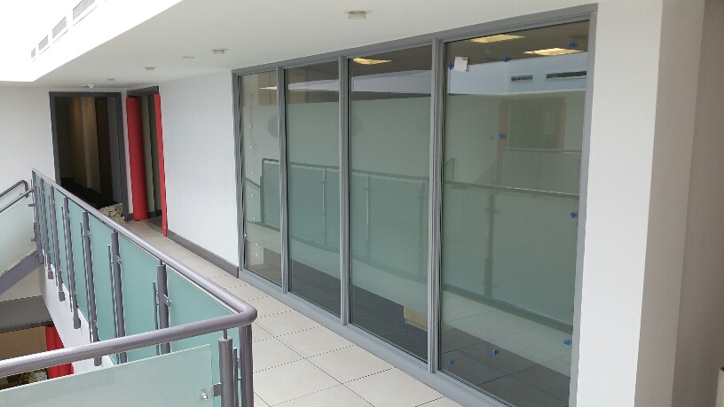 Eched frost vinyl for privacy - Vertu Motors Head Office7